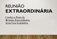 Pauta da Reunião Extraordinária que se realizará no dia 15 (quinze) de outubro de 2020, às 18:00 (dezoito) horas.
